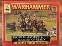 Dogs Of War Beorg Bearstruck & The Bear men of Urslo. boxed WARHAMMER FB Metal