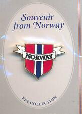 Flag Shield Lapel Pin Norway