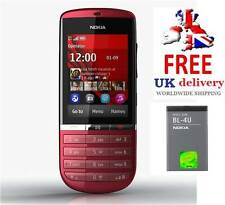 NUOVA condizione Nokia Asha 300 Rosso 5mp TOCUH & tipo 3g Sbloccato Telefono
