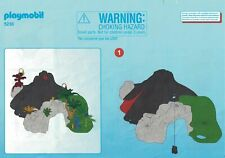 Playmobil Bauanleitung 5230 T-Rex und Saichania beim Vulkan