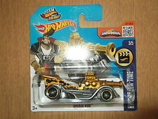 Hot Wheels 2016 Regular Treasure Hunt Grease Rod Very Rare Euro Short Card