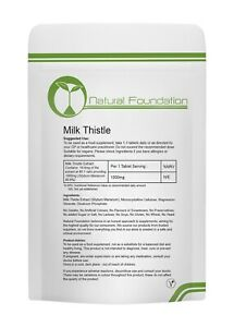 Milk Thistle 1000mg Tablets Liver Detox, Gall Bladder Function, Hang Over Cure