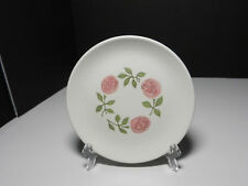"""Metlox Rose A Day Bread Plate White Pink 6"""" D"""