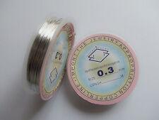 20mt /rotolo di filo in ottone 0.3mm colore argento
