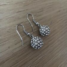 Nickel Free 12mm Ball Crystal Glass Earrings Wedding, Fashion Jewelry New