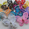 13pcs Upick Wire Glitter Butterfly Appliques Wedding Decoration Supply mix Color