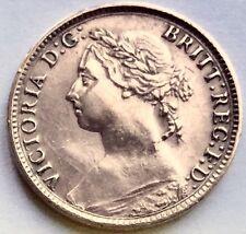 Superb 1884 Queen Victoria Laurel Bust Bronze Farthing In Investment Condition