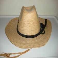 sahuayo mexico lined cowboy straw hat black rope