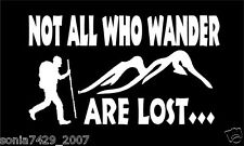 Not All Who Wander Are Lost Hiking Decal Outdoor Adventure Sticker