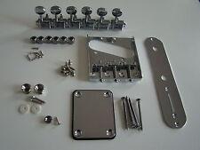 Quality telecaster tele hardware guitar parts kit chrome brand new