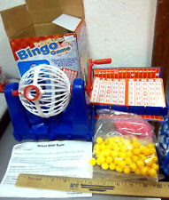 Bingo Game set, includes cards, markers, balls & mixer machine, new in box
