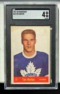 1957-58 PARKHURST TIM HORTON #22 SGC 4 VG-EX HALL OF FAME