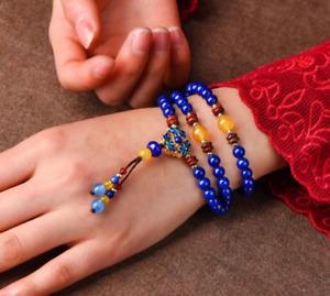 05050012 Traditional handmade jewelry Cloisonne w/blue stone bracelet & bangle