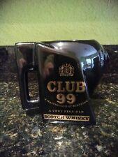 Club 99 Scotch Whiskey Pitcher Pub Jug Whisky Advertising Display EuroCeramics