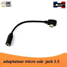 adaptateur Micro USB Jack pour casque ecouteurs 3.5 mm /micro usb to jack