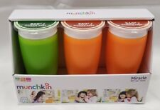 Munchkin Miracle 360 Sippy Cups, 10 oz, 3 Count Green & Orange (C2B)