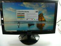 "VIEWSONIC VA2037m-LED LCD 20"" WIDESCREEN MONITOR W/STAND DVI VGA INPUTS - TESTED"