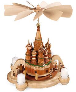 Pyramide Basilius-Kathetrale Roter Platz Moskau Müller Erzgebirge Teelicht 10474