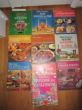 NICE LOT OF VINTAGE BETTY CROCKER COOKBOOKS SOME ARE RARE (TEN IN THE GROUP)