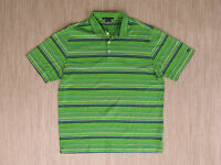 Nike Green Striped Golf Shirt Men's Size XL Tiger Woods Collection Polo Dri-Fit