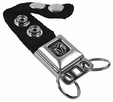 Key Chain Ring Car Lanyard Holder Dodge Ram 1500 Black Mopar Logo Genuine