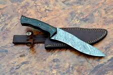 """DAMASCUS STEEL BLADE TRACKER,SURVIVAL KNIFE,MICARTA HANDLE,OVERALL 12""""INCH"""