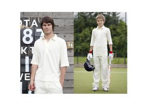 Finden & Hales Classic Cricket Shirt Cricket White/Cream 3/4 Sleeves LV101