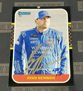 2021 Donruss Nascar Racing Ryan Newman Buyback Auto Autograph 4/5 Made