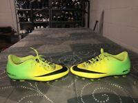 Nike Mercurial Vortex FG Boys Youth Soccer Cleats Size 3.5Y Green Yellow Black