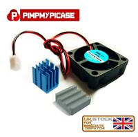 Ceramic Aluminium Heatsink AND Cooling Fan Kit for All Raspberry Pi Models 3 2 B
