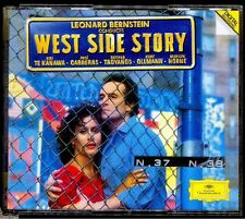 WEST SIDE STORY - Bernstein - Box Set 2 x German CD Deutsche Grammophon 1985