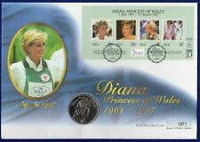 Diana, Princess of Wales, 1998 Coin Cover, Niue Dollar, $1, Fdc (Ref. t2270)