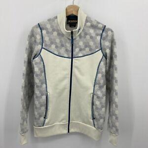 KLIM Sundance Mid-Layer Jacket Women's Size M Off White Blue Geometric Pattern