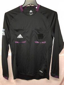 Adidas Mls Soccer Referee Long Sleeve Jersey Black Size Men's M