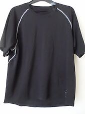 Mens Black First Fitness Factory Running Top Short Sleeves  Size: S