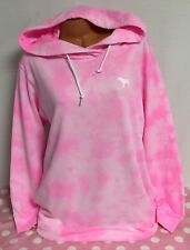 NEW VictoriaSecret Pink Crossover Pullover Hoodie Tunic NWT Tie Dye Pink L V11