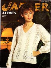 Jaeger Knitting Pattern, Ladies Alpaca Sweater, 4941, 32-40in