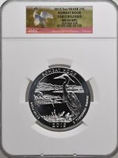 2015 5oz SILVER 25C Bombay Hook NGC MS 69DPL Proof like Early Releases must see!