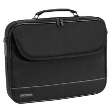 schwarze 17 Zoll Stoff Notebooktasche Tasche Notebook Laptop Laptoptasche + Gurt