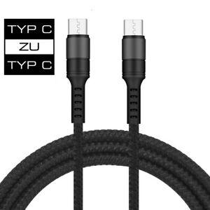 Schnell Ladekabel USB TYP C zu auf TYP C Daten Samsung Huawei Xiaomi LG Handy