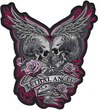 """LT30208 Lethal Threat Embroidered Lethal Angel Rose Patch 9"""" x 10"""""""