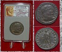 Ancient Roman Empire Coin GALERIUS Genius Silvered Follis Museum Quality Coin!