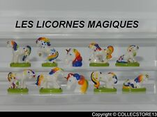 "SERIE COMPLETE DE FEVES LES LICORNES MAGIQUES   "" FILET OR """