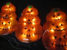 Electric Lighted Pumpkin Halloween Decoration Outdoor Jack-O-Lantern Yard Stakes
