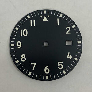 For NH35 /NH36 /7S /4R Movement 33.5MM Watch Dial Green Luminous Dial