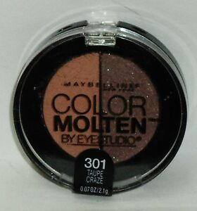 1 Maybelline Color MOLTEN By Eye Studio Eye Shadow Duo TAUPE CRAZE #301 Sealed