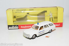 SOLIDO 23 PEUGEOT 504 BREAK AMBULANCE EXCELLENT BOXED