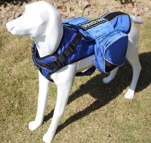 SERVICE DOG Saddle Bag Backpack Carrier Outdoor Travel Hiking Camping Harness