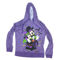 Disney Parks 2015 Purple Mickey & Minnie Mouse Halloween Zip Hoodie Adult XL