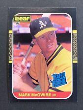 1987 LEAF MARK McGWIRE ROOKIE CARD #46 DONRUSS CANADA OAKLAND A's STL CARDINALS